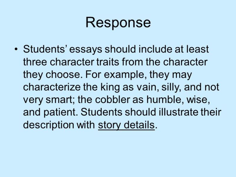 Character Traits Essay Example | Poemsrom.co