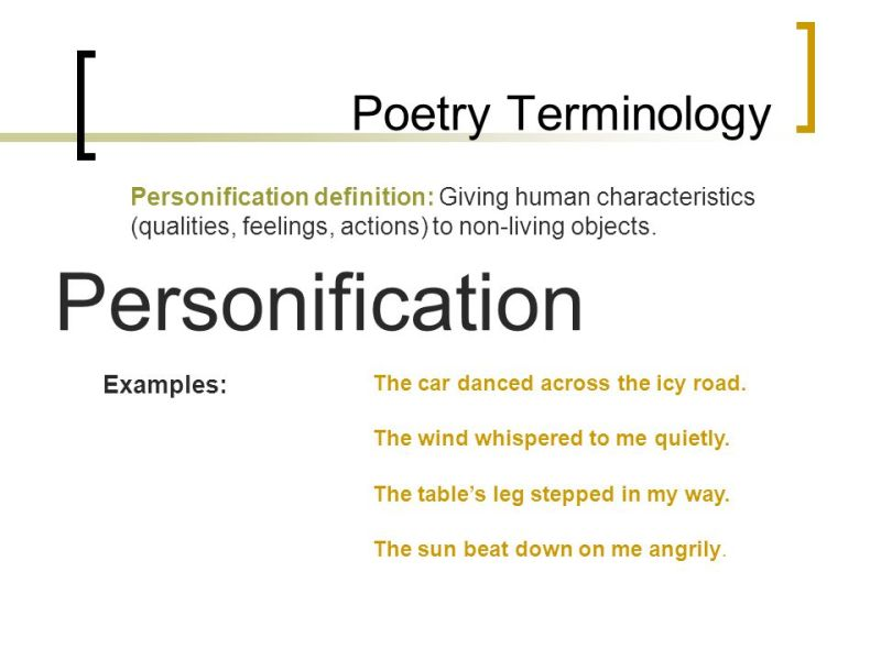 Poems With Personification 3