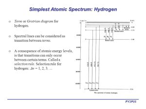 Lecture 12: Introduction to Atomic Spectroscopy  ppt
