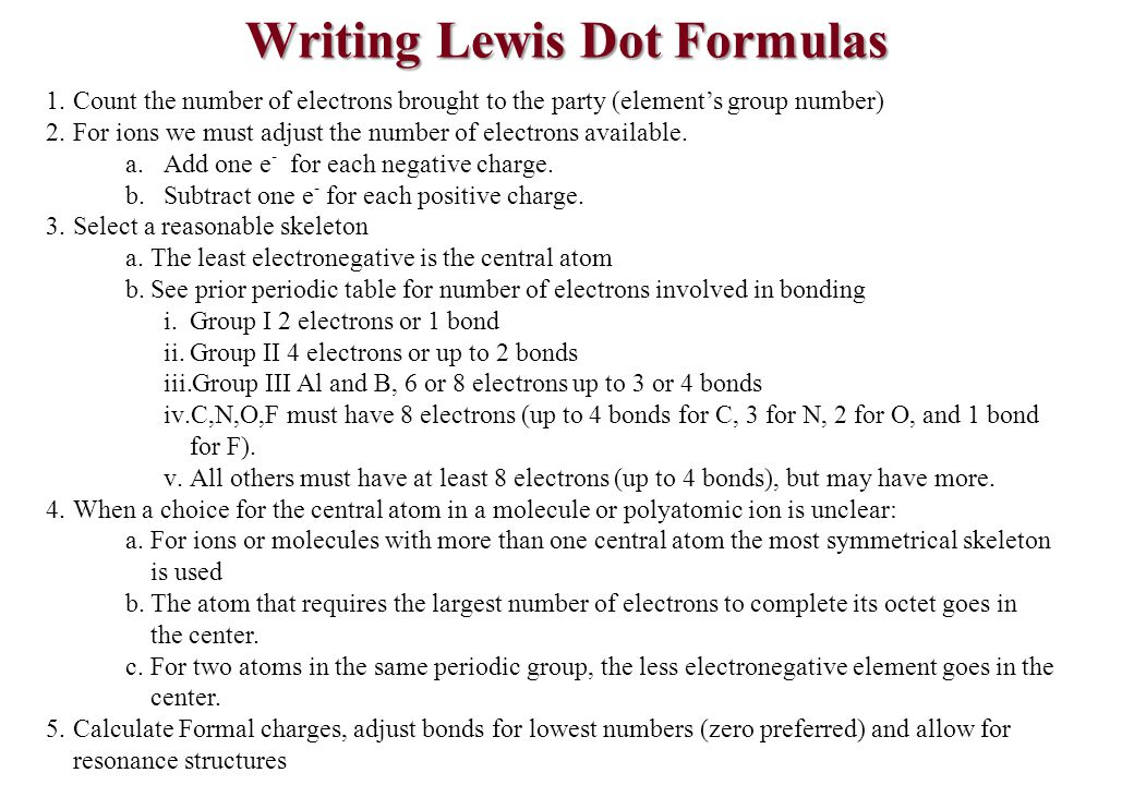 All The Periodic Table With Lewis Structures