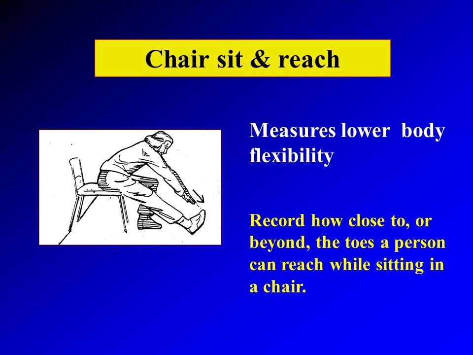 Chair Sit And Reach Test