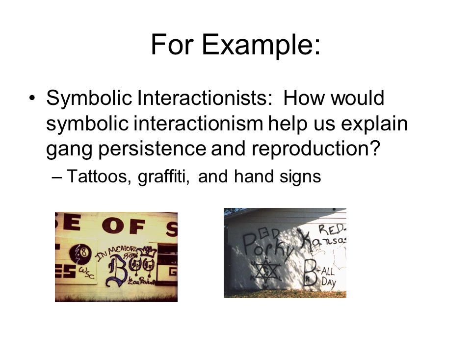 Symbolic Interactionist Theory Examples