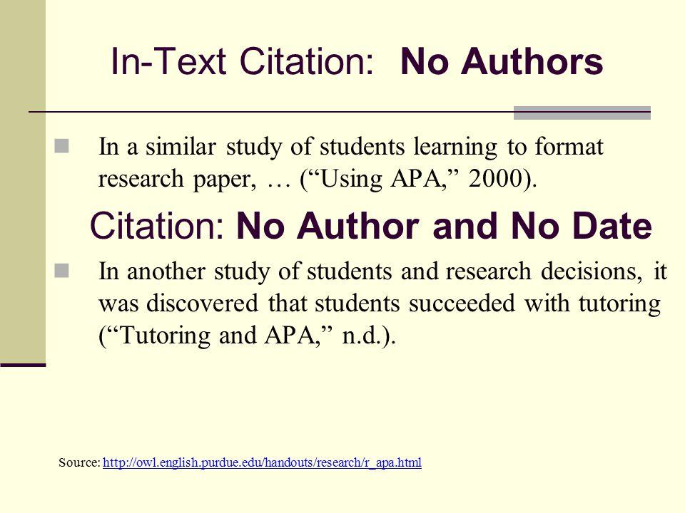 No Author Apa Citation Format Website Text