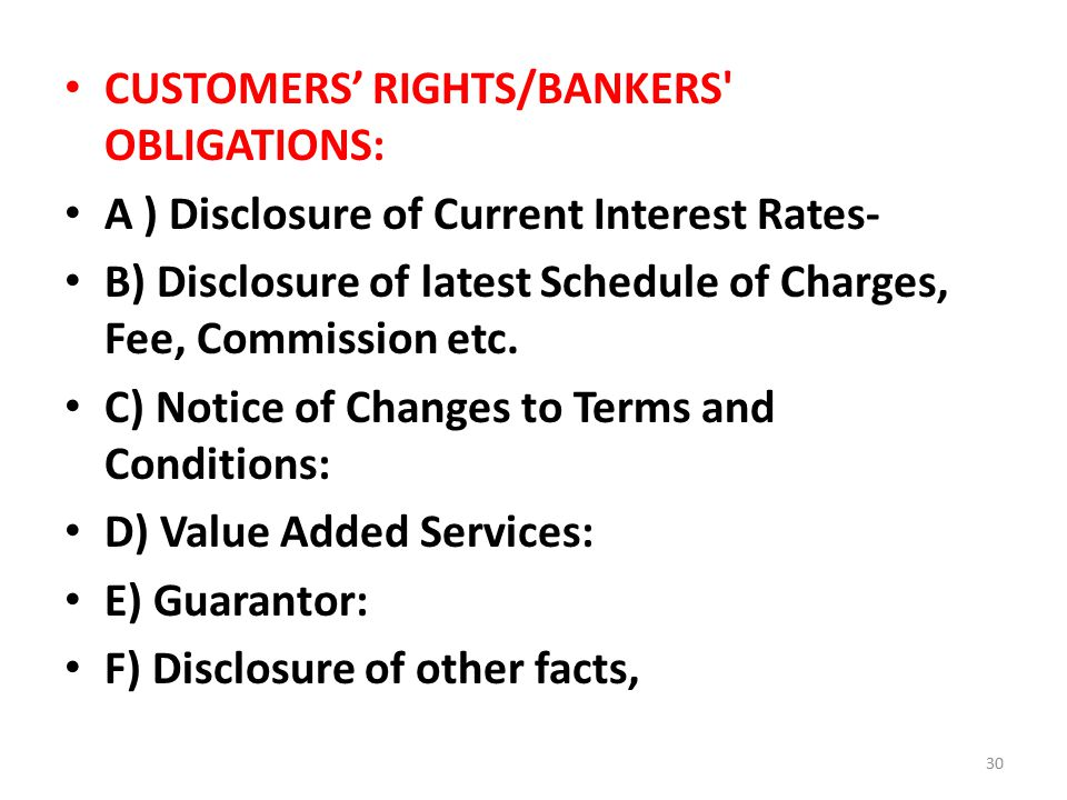 BANGLADESH BANK'S GUIDELINES FOR CUSTOMER SERVICES AND