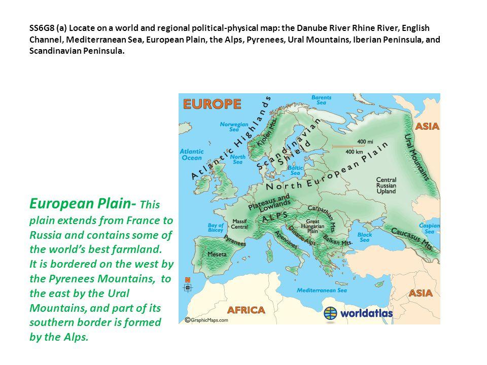 Physical Map Eastern Europe English