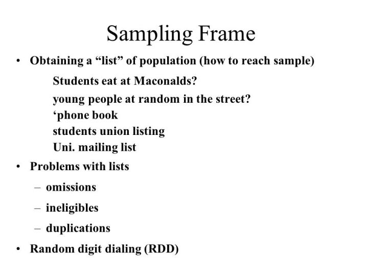 Luxury Define Sampling Frame Picture Collection - Custom Picture ...