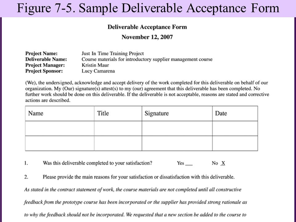 Project Completion Form Template - Work completion form template