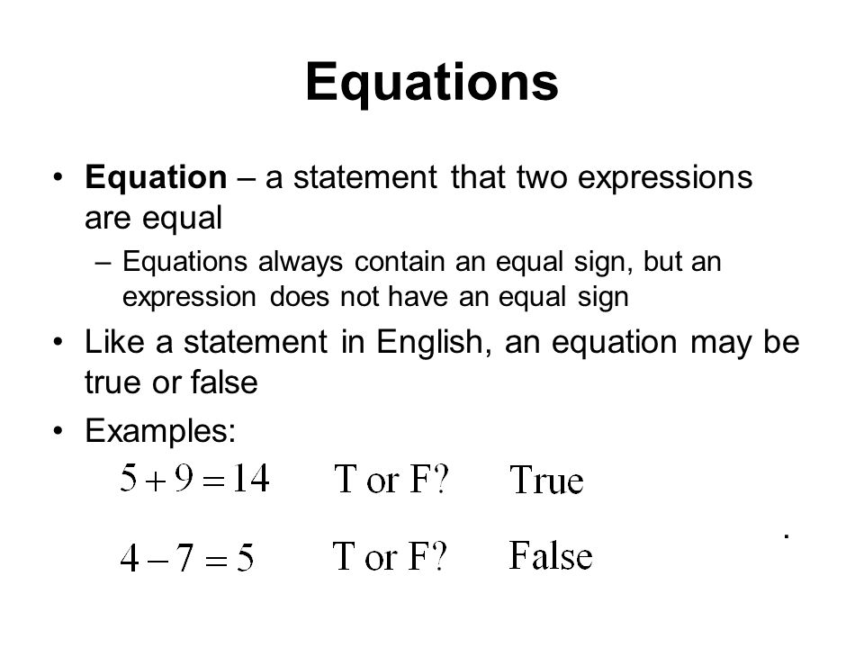 Different Types Linear Equations