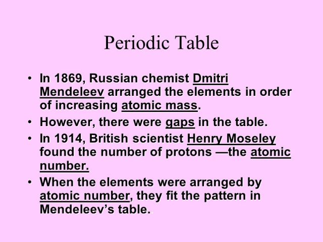 Who discovered periodic table arranged by atomic number image elements in the periodic table are arranged order of increasing who discovered periodic table arranged by urtaz Images