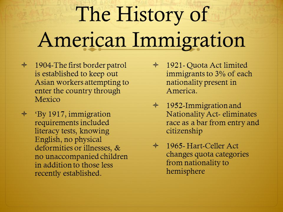 Makeup 1965 Act Change Wouldnt Racial Immigration