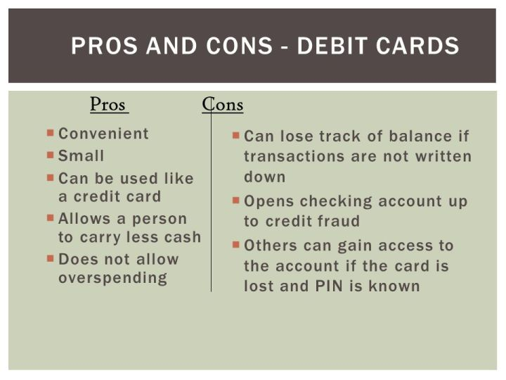 Debit card advantages and disadvantages business poemview business credit cards disadvantages image collections card design reheart Image collections