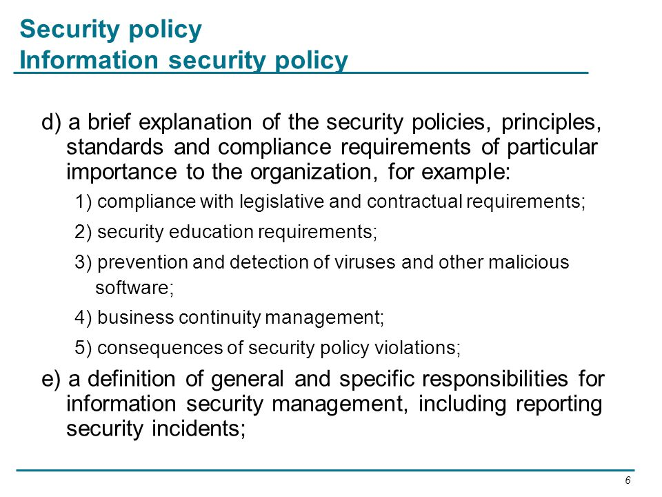 Security Policy Information Definition