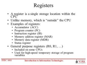 6 The CPU and Memory Chapt ppt video online download