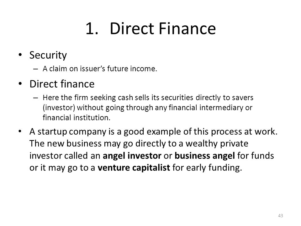 Finance Without Security