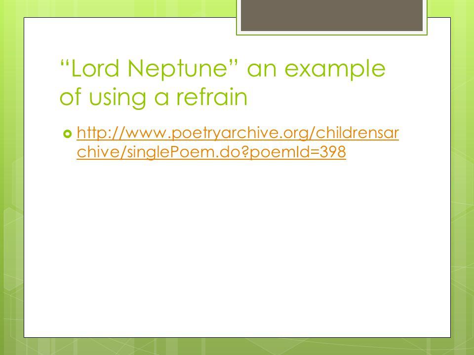Refrain Examples Literature
