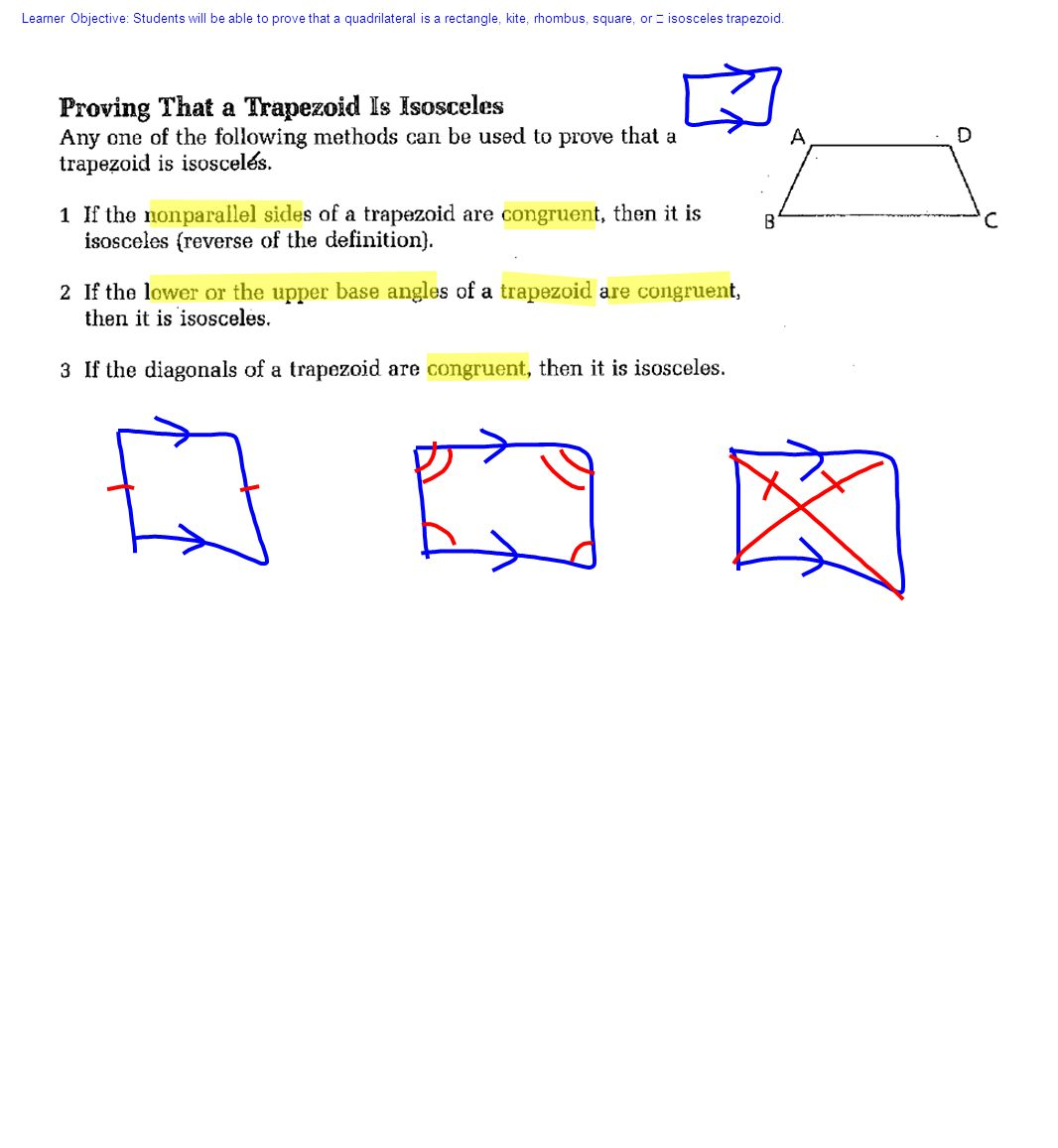Proving That Figures Are Special Quadrilaterals