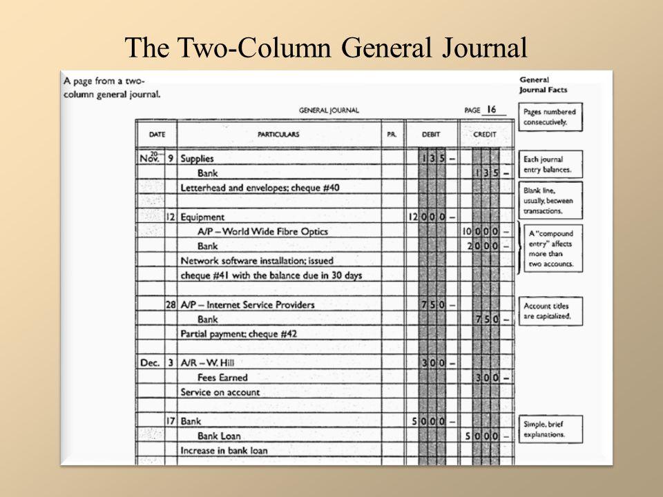 General Journal Entry Sheet