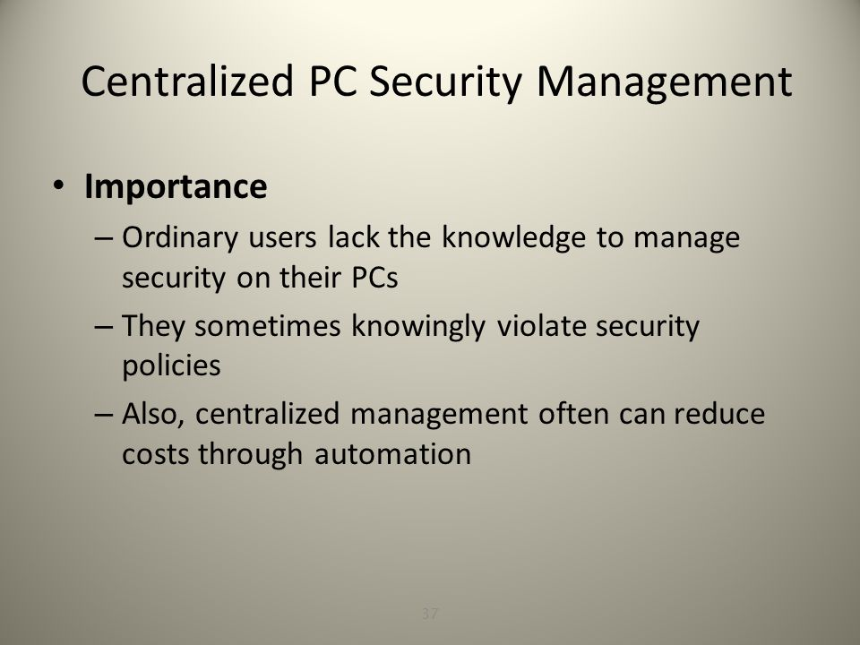 Windows Security Management