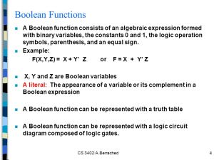 Chapter 2: Boolean Algebra and Logic Functions  ppt video