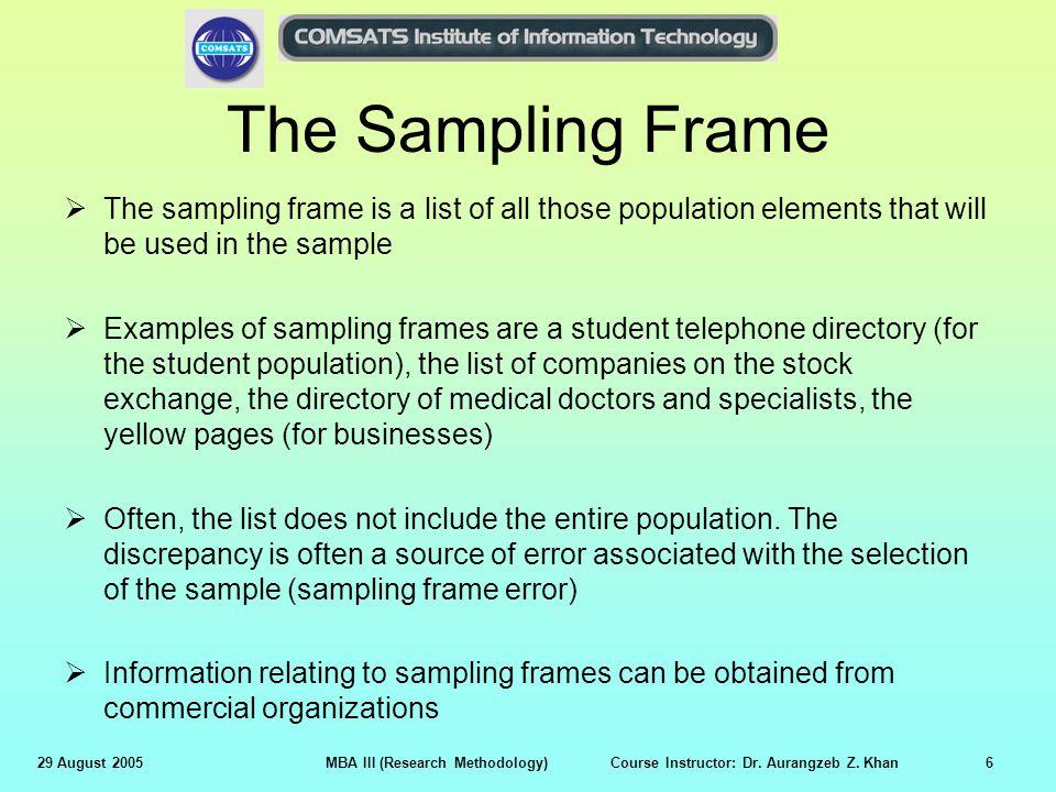 Types Of Sampling Errors