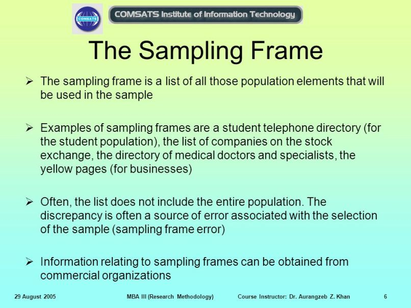What Is A Sampling Frame In Research Methods | Frameswalls.org