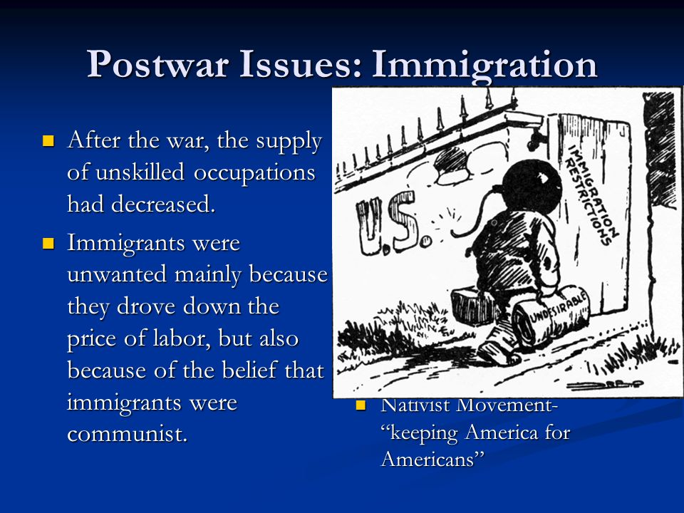 Roaring Twenties Struggling With Postwar Issues Ppt
