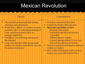 Mexican, Russian, and Chinese Revolutions  ppt video online download