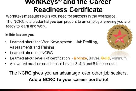 Free Resume 2018 » career readiness certificate free practice test ...