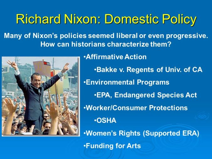 Image result for Nixon's Liberal policies