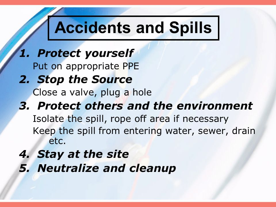 Steps For Cleaning Up A Chemical Spill Ppt Video Online