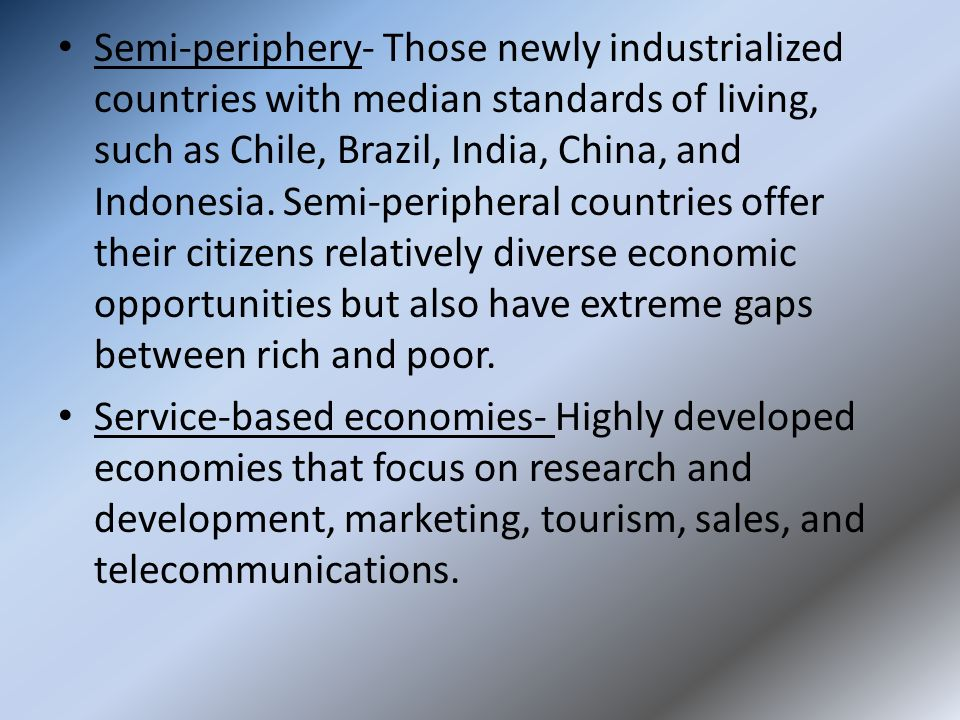 semi periphery countries