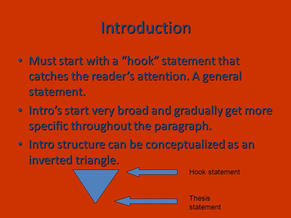 Inverted Triangle Hook Transition Thesis Writing