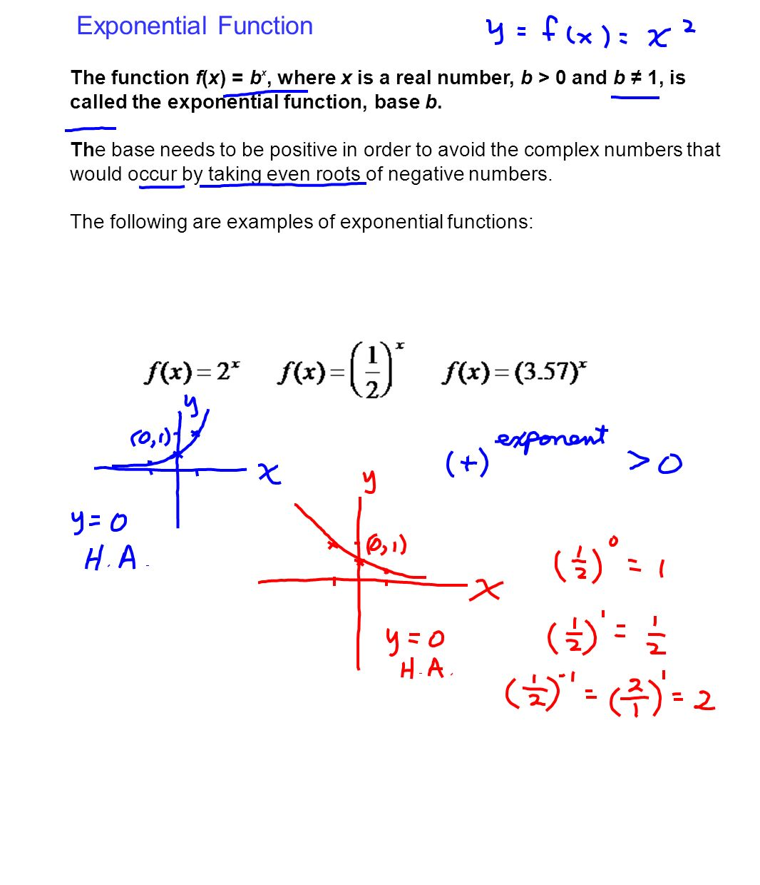 Exponential And Logarithmic Functions And Equations