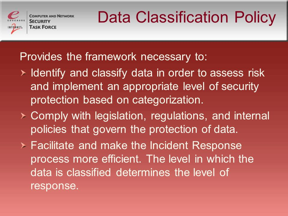 Security Policy Information Ppt