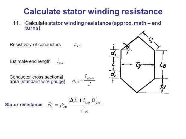 3 phase induction motor winding resistance calculation formula
