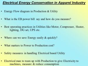 Electrical Energy Conservation in Apparel Industry  ppt