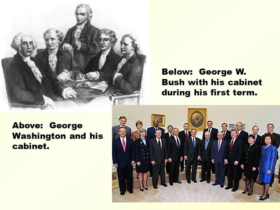 George W Bush Cabinet First Term Functionalities Net