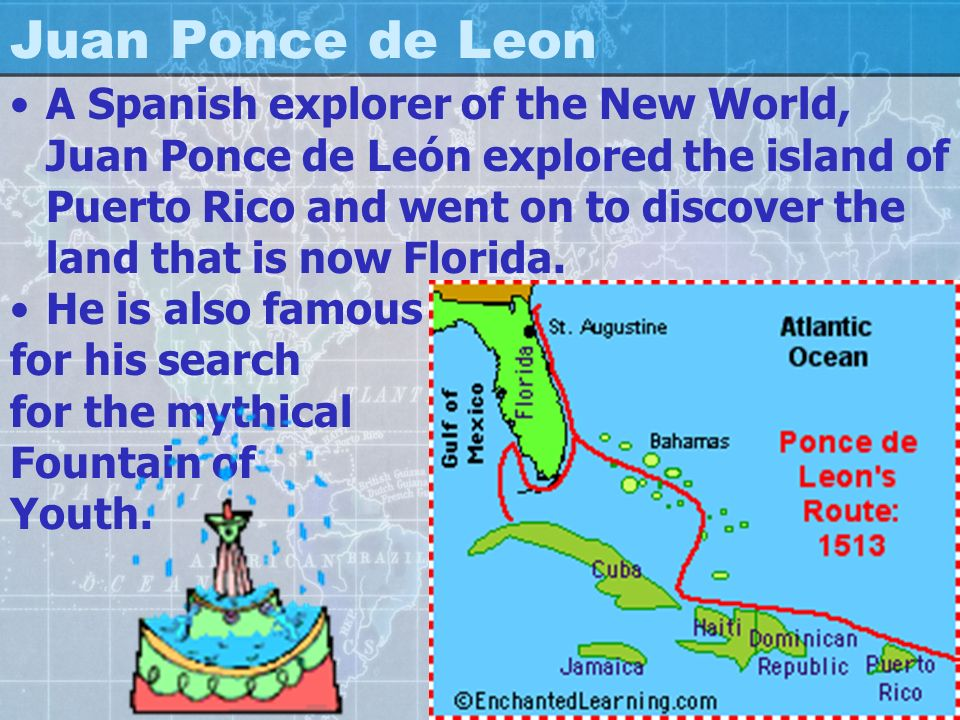 Ponce De Leon Map Floridu Jane