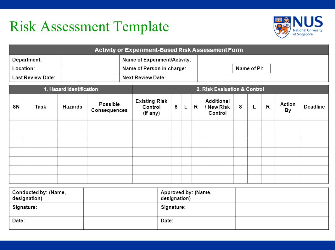 Hazard Assessment Matrix Pictures To Pin