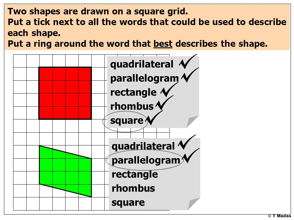 What Are Parallelograms Shapes
