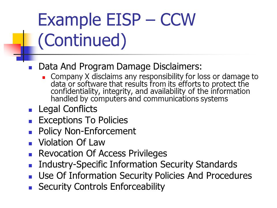 Issue Specific Security Policy Example