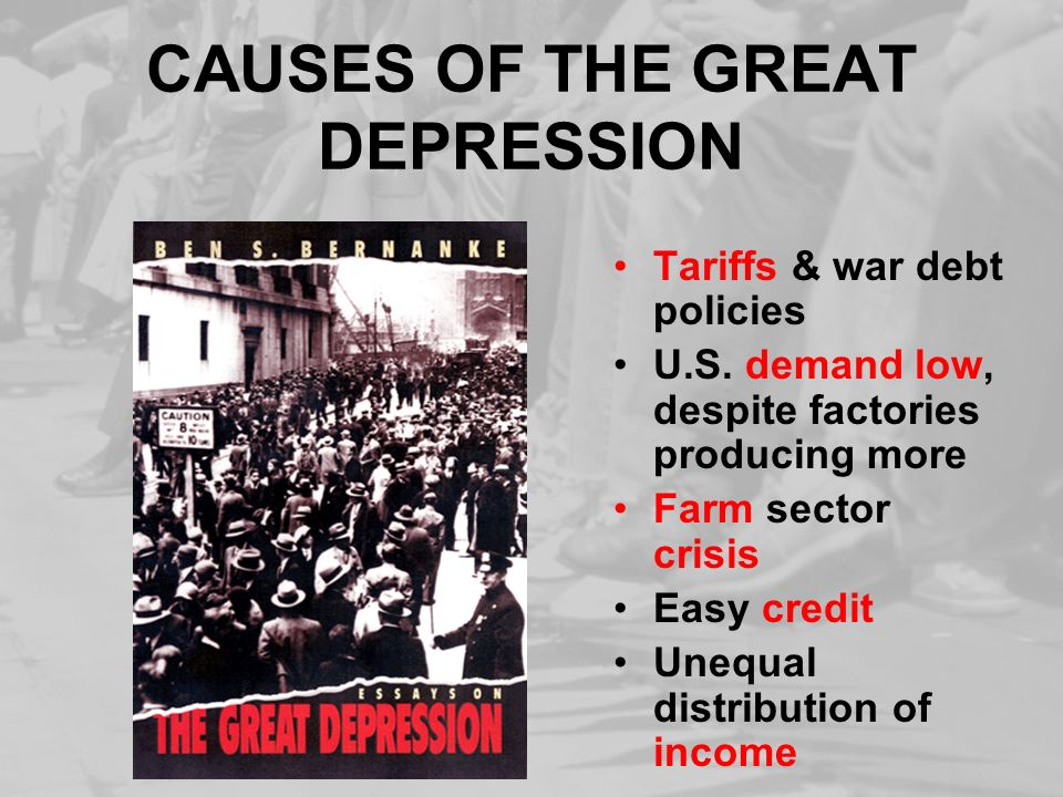 THE GREAT DEPRESSION BEGINS Ppt Download