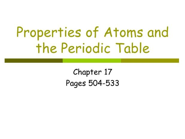 properties of atoms and the periodic table worksheet answers