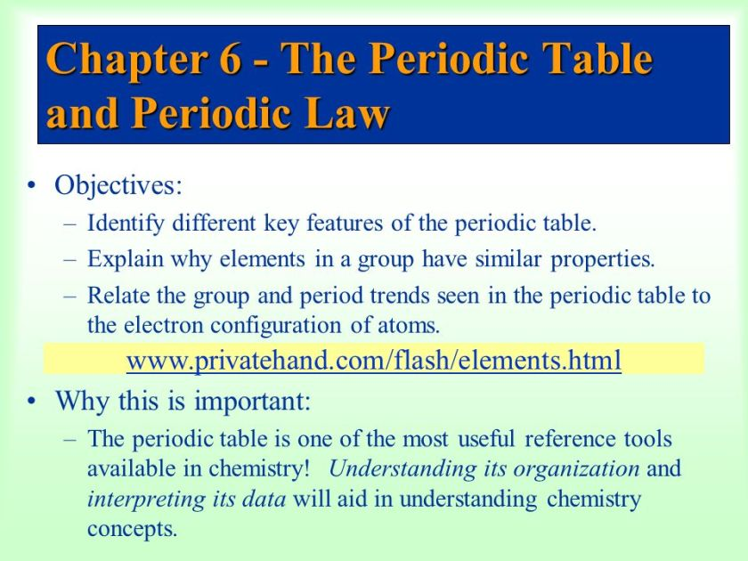 chapter 6 the periodic table and periodic law answers – The Periodic Law Worksheet
