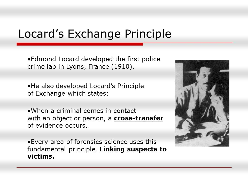 Image result for locard's principle
