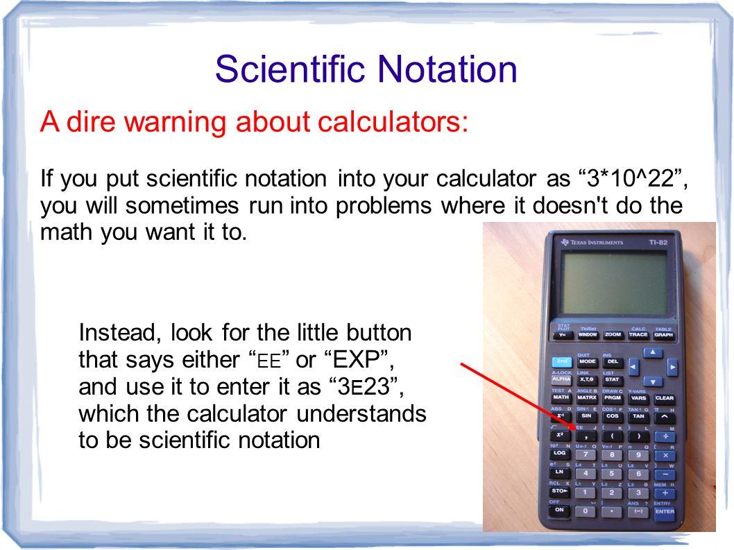 Graphing Calculator Scientific Notation Ti Calculator Tutorial Scientific Notation How To Make