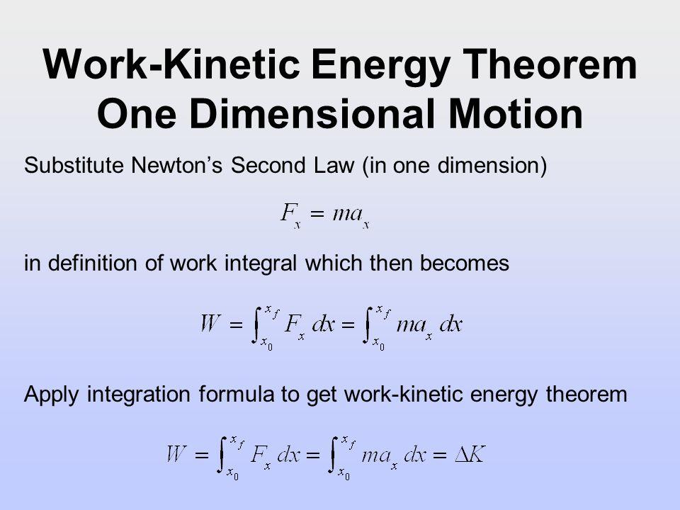 Energy Equation Theorem Kinetic Work