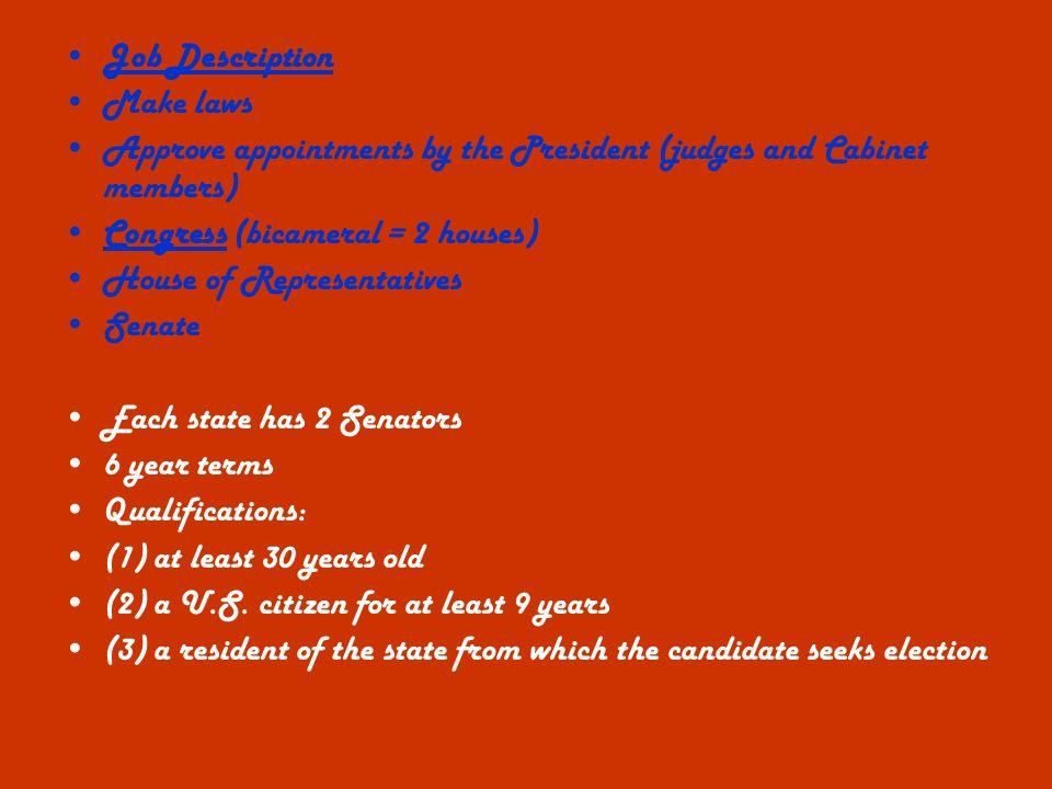 Presidential Cabinet Members Job Description | memsaheb.net