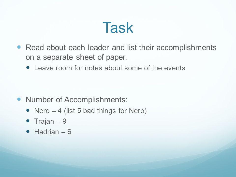 What Did Nero Accomplish
