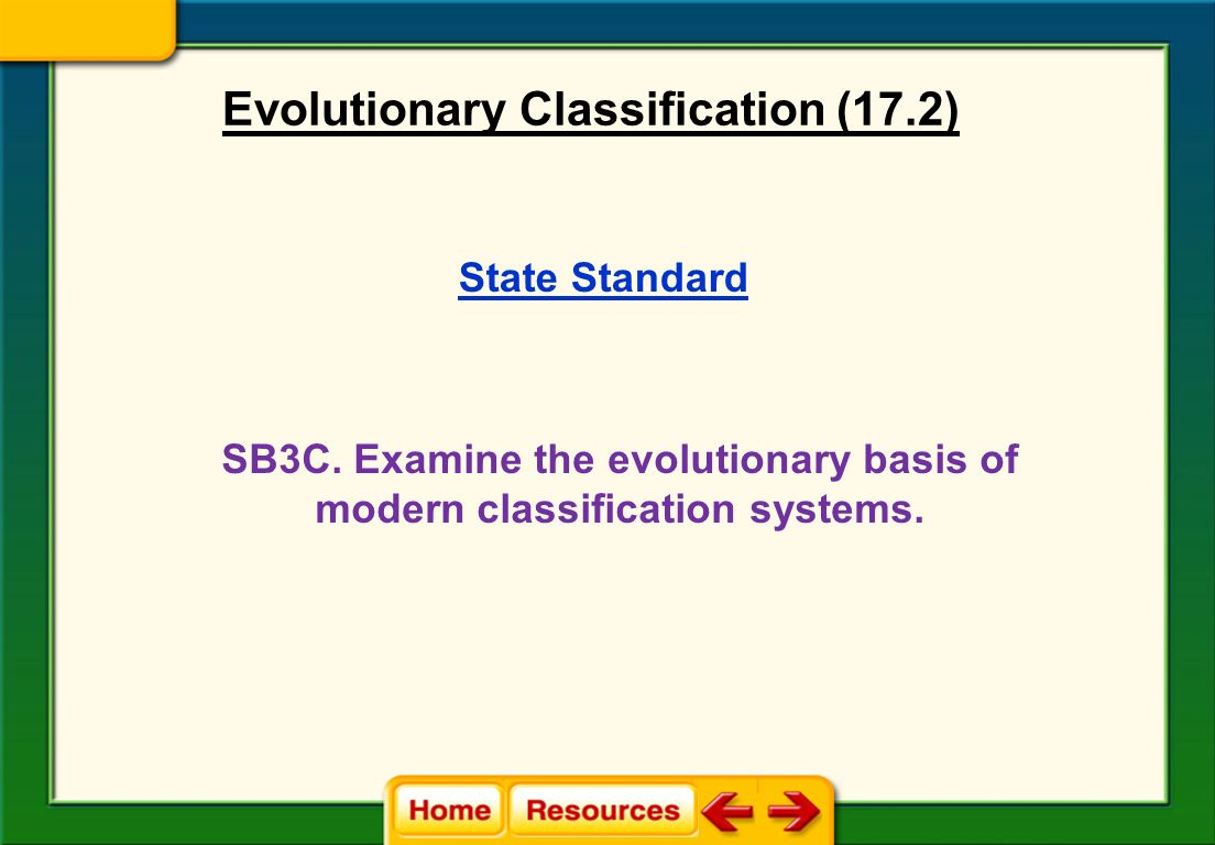 Worksheet Section 18 2 Modern Evolutionary Classification